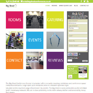 Big Shed Conferences by Buzz Website Design in Leicester