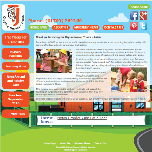 Clopton Nursery by Buzz Website Design in Leicester